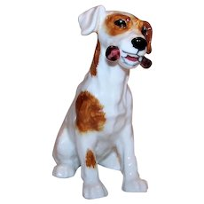 Vintage Early Issue Royal Doulton Jack Russell Terrier Dog Figurine