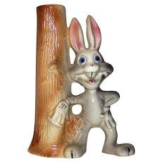 Vintage 1940's ceramic Warner Brothers Bugs Bunny Figural Caricature  Bud Vase