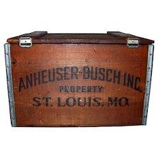 Vintage 1976 Centennial Commemorative Budweiser Wooden Crate