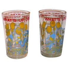 Vintage Welch's Jelly 1974 Warner Brothers Bugs Bunny  Glass Set