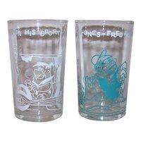 Vintage Welch's Jelly 1962 Hanna-Barbera Productions Flintstones Glass Set