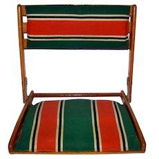 "Vintage 1940""s Pair Of Take Along Manufacturing Portable Seating"
