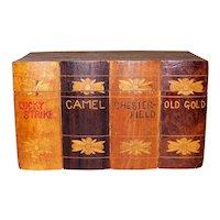 Vintage Wooden Cedar Cigarette Storage Box
