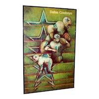 Vintage 1968 Dallas Cowboy Poster