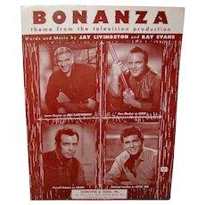 Vintage 1959 Bonanza Television Series Sheet Music