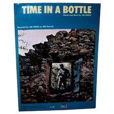 Vintage 1971-72 Jim Croce Sheet Music For Time In A Bottle Song
