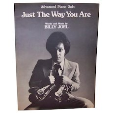 "Vintage Billy Joel sheet music published in 1977 for his hit song ""Just The Way You Are""."