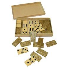 Vintage Cardinal Celluloid Domino Set