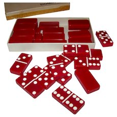 Vintage Puremco #617 Double Thick Double Six Domino Set