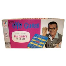 Vintage 1966 Milton Bradley Bill Cullen's Eye Guess Board Game
