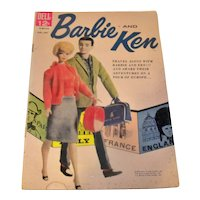 Vintage 1962 Dell Comics Barbie & Ken Issue #2 Comic Book