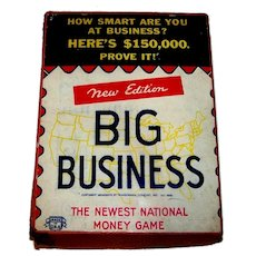 Vintage 1937 Transogram Big Business Board Game