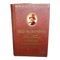 Vintage 1959 Old Mr. Boston Deluxe Official Bartender's Guide