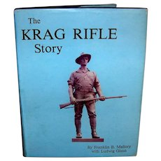 Vintage 1969 first edition first printing of the book Krag Rifle Story. This was a limited edition of only 100 books originally printed in the first run. The book features black & white illustrations and photos. This vintage hardcover book includes t