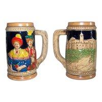 Vintage KMP Beer Stein Set