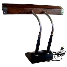 Vintage 1960's Tensor Industrial Style Double Gooseneck Desk Lighting