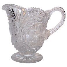 Vintage Hofbauer West German Crafted Crystal Byrdes Glass Pitcher