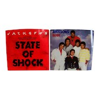 Vintage 1984 Collection Of Jackson Five 45 RPM Demo Music Records