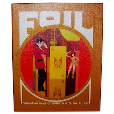 Vintage 1968 Foil Book Shelf Board Game
