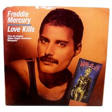Vintage 1984 45 RPM Freddy Mercury Record