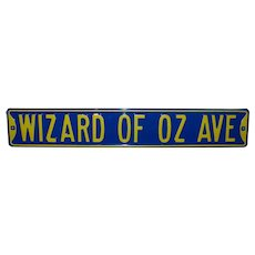 Vintage Heavy Gauge Metal Wizard Of Oz Avenue Street Sign