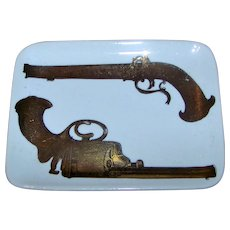 Vintage 1950's Fornasetti Ceramic Pin Tray