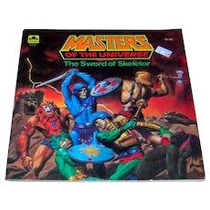 Vintage 1983 Golden Book Masters of The Universe Sword Of Skeletor