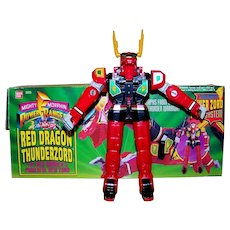 Vintage 1994 Mighty Morphin Power Rangers Red Dragon Thunderzord Action Figure