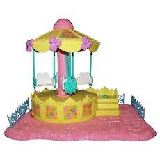 Vintage Hasbro 1989 G1 My Little Pony Petite Prancing Ponies Pretty Carousel Playset