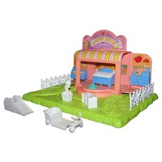 Vintage Hasbro Toys 1989 G1 My Little Pony Happy Hoof Market Playset