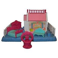 Vintage Hasbro Toys 1989 G1 My Little Pony Petite Pony Home Pony Prints Cabin Playset