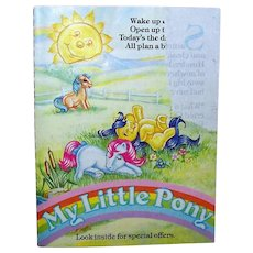 Vintage 1985 My Little Pony Birth Flower Pony Pamphlet