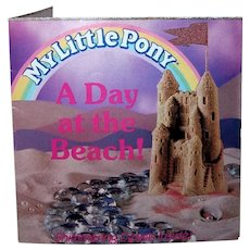 Vintage 1990 My Little Pony A Day At The Beach Pamphlet