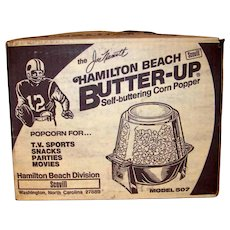 Vintage 1976 Joe Namath Hamilton Beach Popcorn Popper