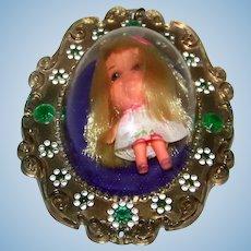 Vintage Mattel 1967 Lou Lucky Locket Kiddle Doll