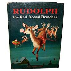 Vintage 1958 Big Golden Book Rudolph The Red-Nosed Reindeer
