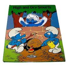 Vintage 1983 Smurfs Children's Puppet Book By Peyo