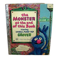 Vintage 1971 A Little Golden Book Sesame Street The Monster At The End Of This Book