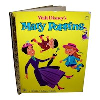 Vintage 1973 A Little Golden Book Mary Poppins