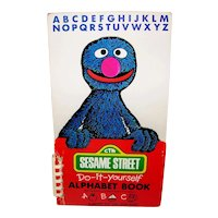 Vintage 1980 Sesame Street Do-It-Yourself Alphabet Book