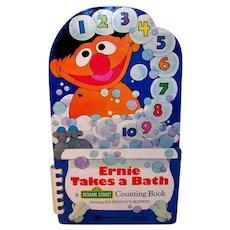 Vintage 1977 Sesame Street Ernie Takes A Bath: A Counting Book