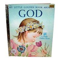 Vintage 1980 Little Golden Book About God