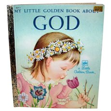 Vintage 1980 Little Golden Book About God