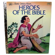 Vintage 1978 A Little Golden Book Heroes Of The Bible