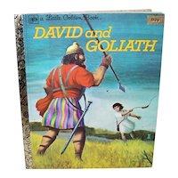 Vintage 1980 A Little Golden Book David And Goliath Children's Book