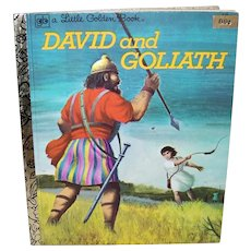 Vintage 1980 A Little Golden Book David And Goliath Children's Book