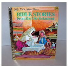 Vintage 1980 A Little Golden Book Bible Stories From The Old Testament