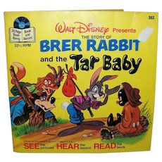 Vintage 1977 Walt Disney See Hear Read Brer Rabbit Children's Book
