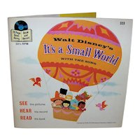 Vintage 1978 Walt Disney See, Hear and Read It's A Small World Children's Book