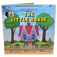 Vintage 1970 Walt Disney See Hear Read The Little House Children's Book